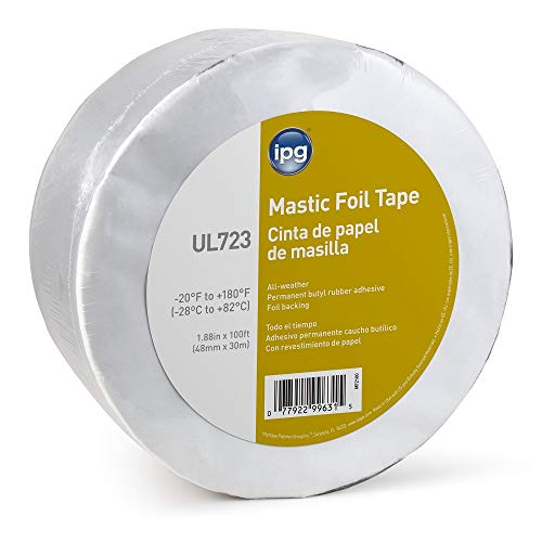 IPG ALF Butyl Mastic Foil Tape, 1.88' × 100 ft, (Single Roll)