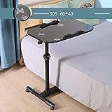 huademy Laptop-Ständer für Nachttisch, tragbar, Laptop, Schreibtisch, Wagen (Farbe: D, Größe: 60 x 40 x 65–95 cm)