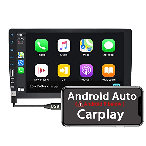 Binize 9 Inch Single Din Autoradio Car Stereo MP5 Player with Apple Carplay/Android Auto(Android 9 Below) for Android/iOS,with FM/AM/Bluetooth/USB/Remote,Support Backup Camera Input