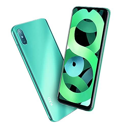 Teléfono Móvil Libre, KXD D58 smartphones baratos, Pantalla 6.22', 32GB ROM (128GB SD) Smartphone Libre, Batería 4000mAh, 4G Android 9.0 Dual SIM, Cámaras triples de 13MP,Face ID/GPS/Versión EUR-VERDE