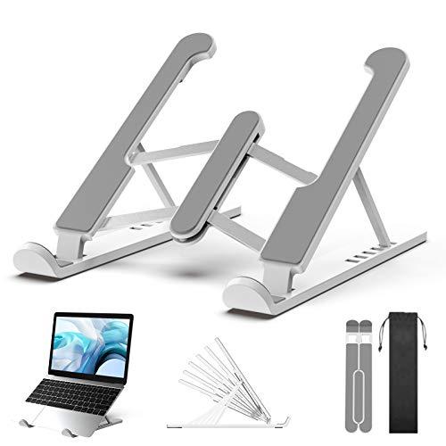 LUXSURE Laptopständer höhenverstellbar Laptophalterung Rutschfester Ständer Verstellbarer Notebook Ständer Kompatibel für Laptops (11-17Zoll),Universale Laptop Zubehör,Ergonomisch Stander, ABS