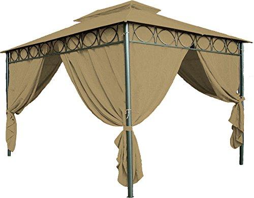 Spetebo Ersatzdach für Pavillon Cape Town 4x3 in braun - Pavillondach wasserdicht - PVC Beschichtung