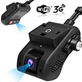 [APP REMOTELY Control] Dual Dash Cam Front and Cabin, JIMI JC200 Dash Camera for Cars 3G WiFi Car Camera 1080P FHD Infrared Night Vision Car DVR Driving Recorder with Professional GPS Tracking System