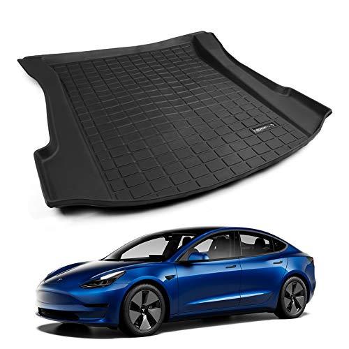 Fit Tesla Model 3 Trunk Mat Cargo Liner All Weather TPE Mat for Tesla Model 3 Accessories (Car Trunk Mat)