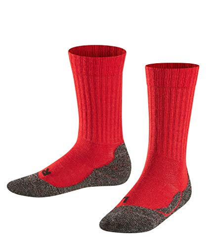 Falke Unisex Kinder Socken, Active Warm K SO -10450, Rot (Fire 8150), 23-26