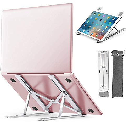 """MAIDeSITe Adjustable Laptop Stand for Desk Multi-Angle Laptop Riser Portable Tablet Stand Folding Notebook Holder Compatible with MacBook Air Pro, HP, Lenovo More 10-15.6"""" Laptops"""