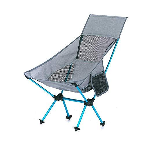 CHHD Sillas Plegables para Exteriores, sillón de Playa portátil para Acampar, cómodo...