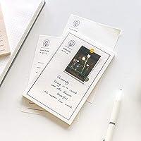 Stationery 30北島の休日シリーズポータブルプログラムノートパッドメモ歌詞セットテーブルマガジンノート文具 Educational Supplies (Color : Yikepingguo hengxian)