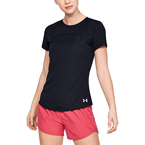 Under Armour UA Speed Stride Sport Mesh Short Sleeve T-Shirt Femme, Noir, L