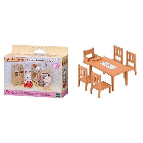 Sylvanian Families Children's Bedroom Furniture &  Families 4506 Esstisch Set, Puppenmöbel, Braun
