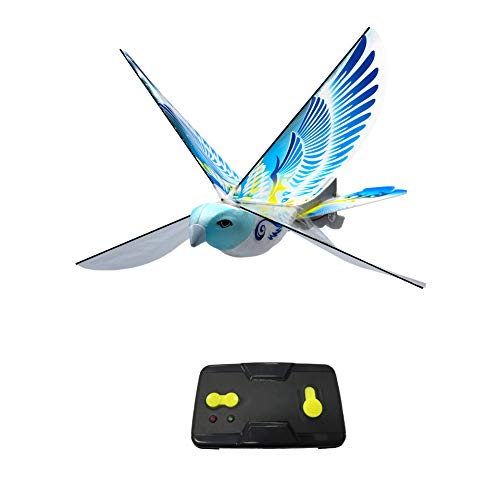 eBird Blue Pigeon - Creative Child Preferred Choice Award Winner Flying RC Toy - Remote Control Bionic Bird (Newest 2.4GHz Version Featuring USB Charging)
