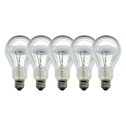 5 x Glühbirne 200W klar E27 Glühlampen Glühbirnen Glühlampe 200 Watt Birne