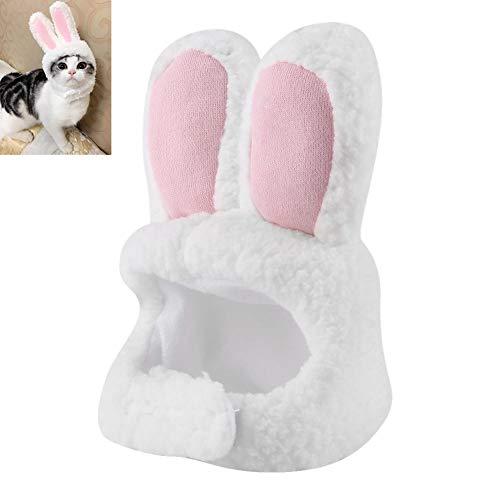 Haustier Kaninchen Ohr Hut Katze Hund Kaninchen Ohr Kopf tragen Hasenohren Form Plüsch Haustier Kopfschmuck für Festival Kostüm Cosplay