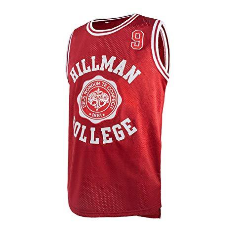 Morever Hillman College - Retro 80s Sitcom tv - Stitched Dwayne Wayne Basketball Jersey S-XXXL Red Large