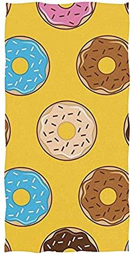 Toalla De Piscina Donut Toallas De Baño Toalla De Piscina Toalla De Playa Toalla De Baño Unisex Acogedor Impresión Suave Personalizada 80X130Cm