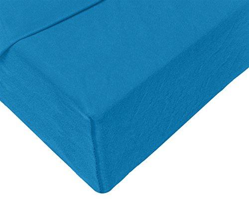 Double Jersey – Spannbettlaken 100% Baumwolle Jersey-Stretch bettlaken, Ultra Weich und Bügelfrei mit bis zu 30cm Stehghöhe, 160x200x30 Petrol - 4