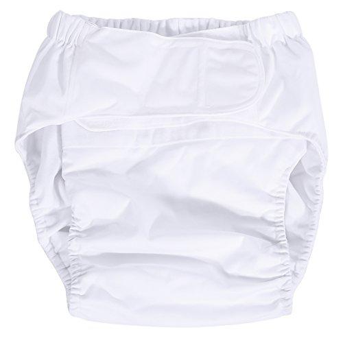 DEWIN Pannolini per Incontinenti Adulti - Pannolini Sagomati Adulto Pannolino lavabile per adulti per la cura degli incontinenti Pannolino per pannolini di stoffa regolabile ultra assorbente (Bianca)