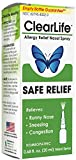 MediNatura ClearLife Natural Allergy Relief - Safe, Non-drowsy Relief in Any Region - 0.68oz Nasal Spray