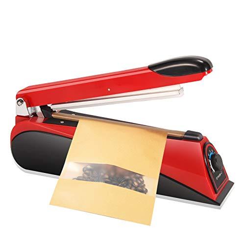 Hanchen Termosigillatrice 200mm Sigillante per Sacchetti Domestico e Commerciale per Sacchetti di Plastica Sacchetti di Alluminio