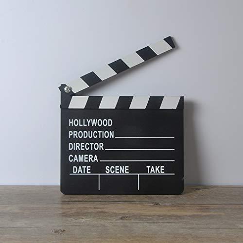 QWEA Tablero de badajo Tablero de Director Tablero Creativo Fondo de Estudio Accesorios de rodaje de película Tablero Acción Claqueta 20CM * 18CM