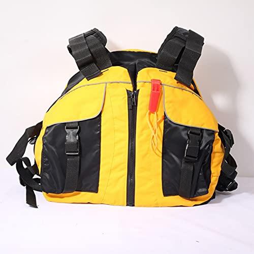 LIMESI Chaleco Salvavidas de Neopreno Chaleco de Flotabilidad Sólido para Adultos Chaleco de Seguridad de Ayuda a La Flotabilidad de Kayak Chaleco de Kayak Deportivos Acuáticos - Amarillo