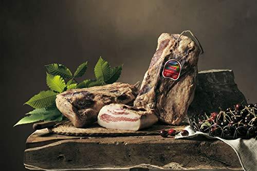 Angebot! ca 1,1kg Italienische Guanciale di Sauris - Schweinebacke leicht gräuchert und luftgetrocknet aus dem Carnia Tal, Wolf Sauris
