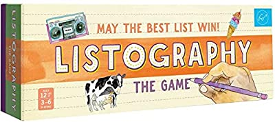 Listography: The Game: May The Best List Win! (Board Games, Games for Adults, Adult Board Games)