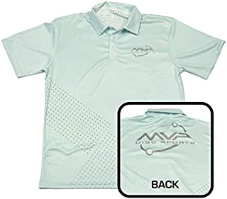 MVP Disc Sports Dot Matrix Sublimated Short Sleeve Performance Disc Golf Polo Shirt