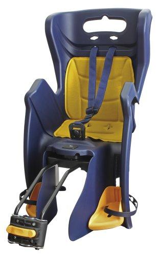 Messingschlager Reclinable BS - Silla Infantil para Bicicleta, Color Azul