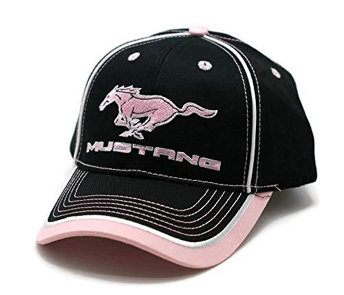 Mütze – Ford Mustang Stickerei Verstellbare Ballkappe Pink & Schwarz