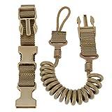 ZHZHUANG Cordón ajustable de cordón duradero de la honda de la caza de los accesorios seguros de la cuerda de la retención de la primavera de la honda Llaveros, caqui, 55-150cm