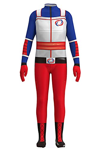 Enhopty Disfraz de superhéroe Danger para Halloween, carnaval, cosplay, disfraz 110