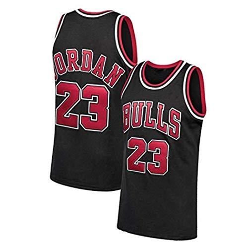 FGRGH Jersey Jordan Camisa, Camisetas de Baloncesto de los Hombres de los toros, 23 Malla de Hombre Volador Entrenamiento al Aire Libre de la Camiseta de Secado rápido d Black-S