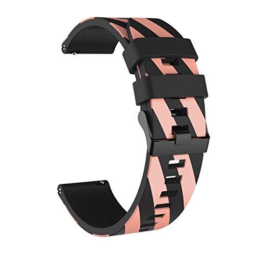 DANGAO Stripe de Silicona Correa de muñeca para MI 3 4 / Stratos 2 / Pace/GTS 42mm 47mm Banda para Huawei Watch GT 2 GT2 (Color : Blue Pink, Size : 20mm)