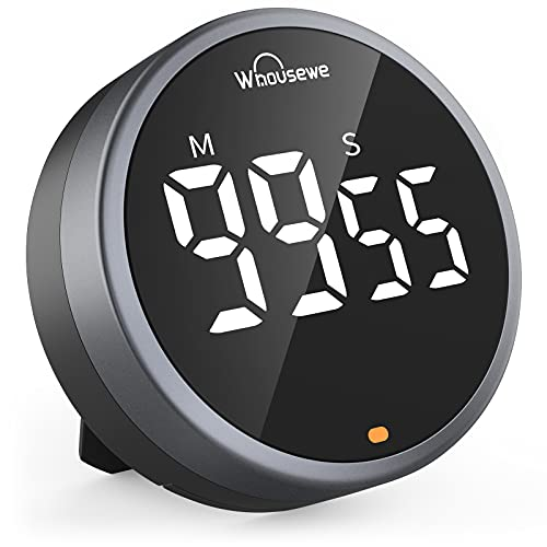 Whousewe Digital Kitchen Timer, Magnetic Timer with Large LED Display,...