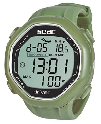 Seac Driver Computadora de muñeca para apnea con Descarga de Datos, Adultos Unisex, Verde