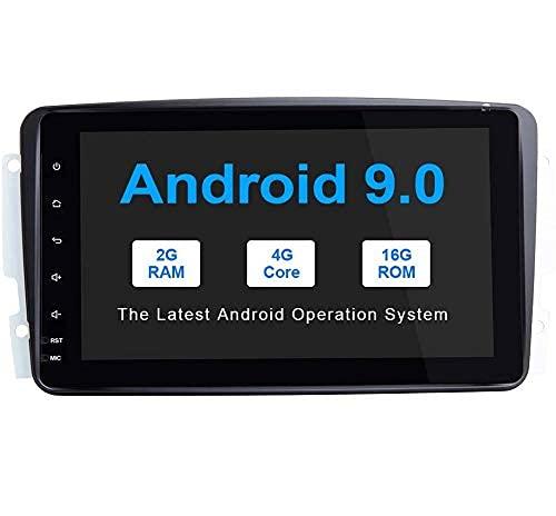 Radio de coche Android 9,0 para Mercedes Benz W209 / W203 / W168 / W163 / W463 / Viano / W639 / Vito/Vaneo GPS estéreo para coche en el tablero con Wifi OBD SWC