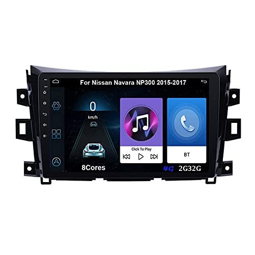 Autoradio Android Car Radio Stereo 9 Pulgadas Pantalla Táctil Para Nissan Navara NP300 2015-2017 Para De Coche Conecta Y Reproduce Autoradio Mit Bluetooth Freisprecheinrichtung