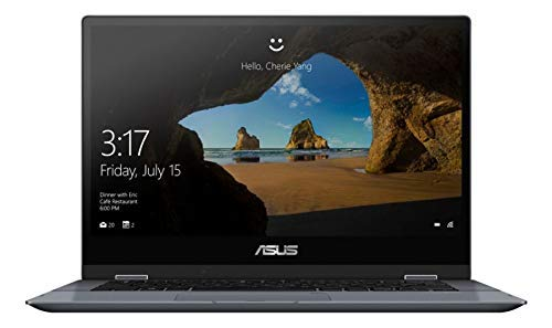 """ASUS VivoBook Flip Laptop, 14"""" Touch Screen, Intel Core i3, 4GB Memory, 128GB Solid State Drive, Windows 10 Home in S Mode,TP412FA-OS31T (Renewed)"""