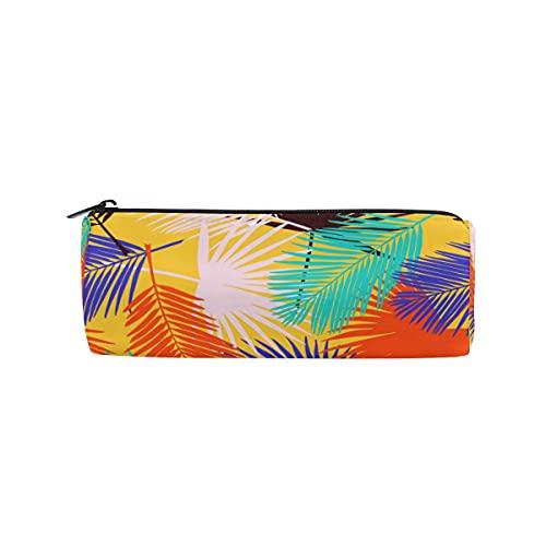 HaJie - Estuche para lápices con diseño de hojas de palma tropicales con cremallera, para niñas, niños, mujeres y hombres