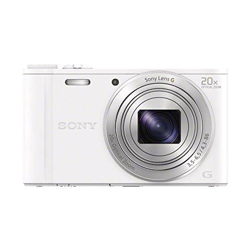 Sony DSC-WX350, Cámara compacta de 18.2 Mp (pantalla de 3', zoom óptico 20x, estabilizador, vídeo Full HD), blanco