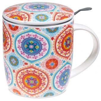 yogabox Conjunto de Mandala Taza de té Azul