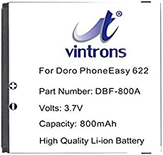 VINTRONS, DBF-800A, DBF-800B, DBF-800C, DBF-800D Battery For DORO PhoneEasy 520, PhoneEasy 606, PhoneEasy 613, PhoneEasy 621, PhoneEasy 622, PhonoEasy 623, PhoneEasy 626, PhoneEasy 631, PhoneEasy 632,