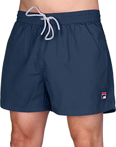 Fila Badehose Herren Seal Swim Shorts 687204 170 Black Iris Dunkelblau, Größe:L