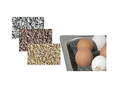 Wärmesand für Chafing Dishes, deutscher Granitsplitt mit feiner Körnung, hohe Wärmekapazität, kein Ankleben wie bei Thermosalz | ERK (Hellgrau)