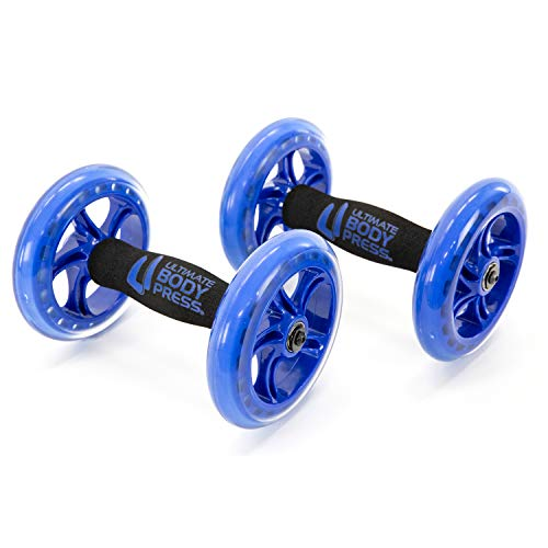 Ultimate Body Press Chest and Ab Wheel Rollers with Independent Ball...