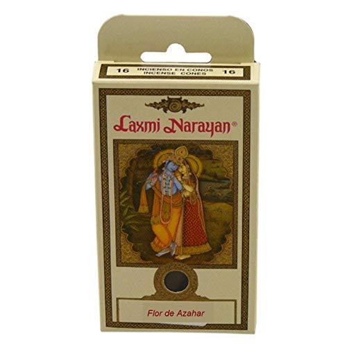 KERALA Incienso Laxmi Narayana Conos, con Aroma de Flor de Azahar. 16 Conos