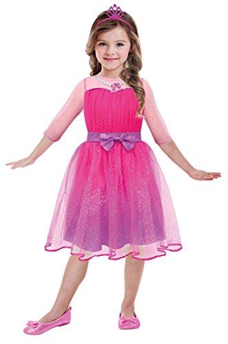 Amscan 999548 - Kinderkostüm Barbie Prinzessin, circa 3 - 5 Jahre, Größe 104, pink