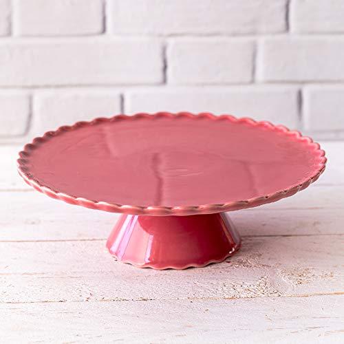 Villeroy & Boch Sweet Flower - Plato para tartas (28 cm), color rojo