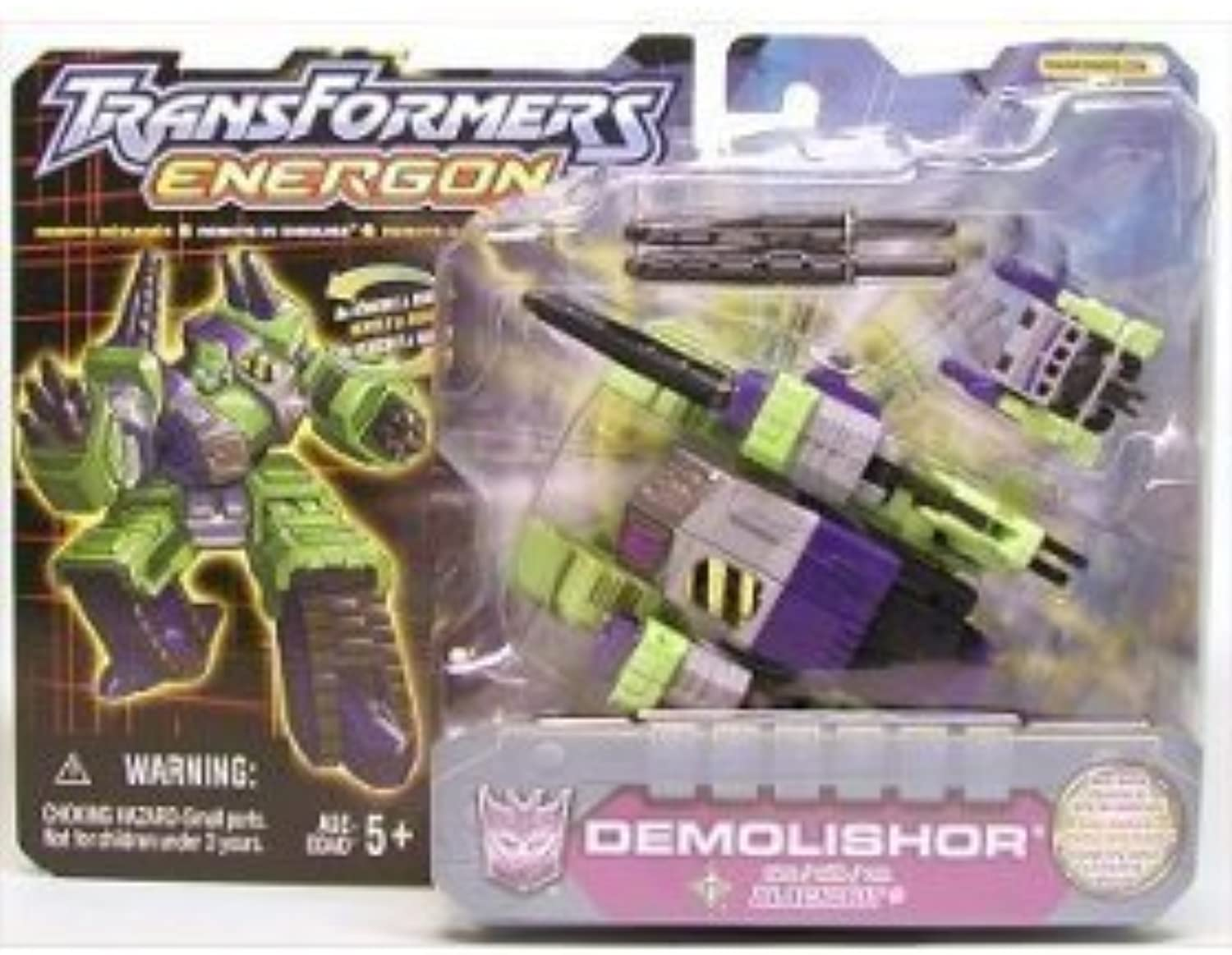 Transformers Energon DEMOLISHOR Helicopter w schwarzOUT Tank  K-B TOYS Exclusive VARIANT